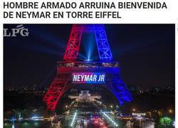 Enlace a Alguien arruinó la bienvenida de la Torre Eiffel a Neymar