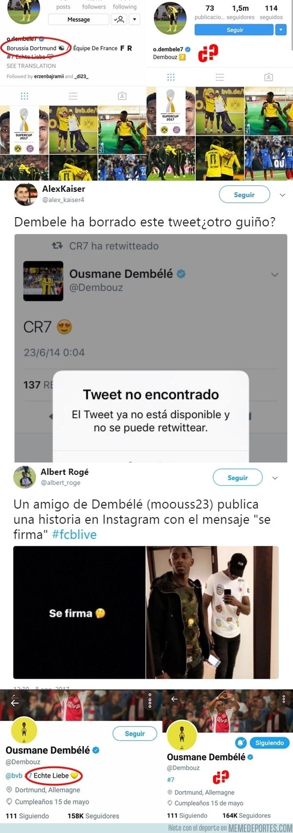 991828 - Dembélé más cerca del Barça que nunca tras hacer todos estos guiños en Twitter e Instagram