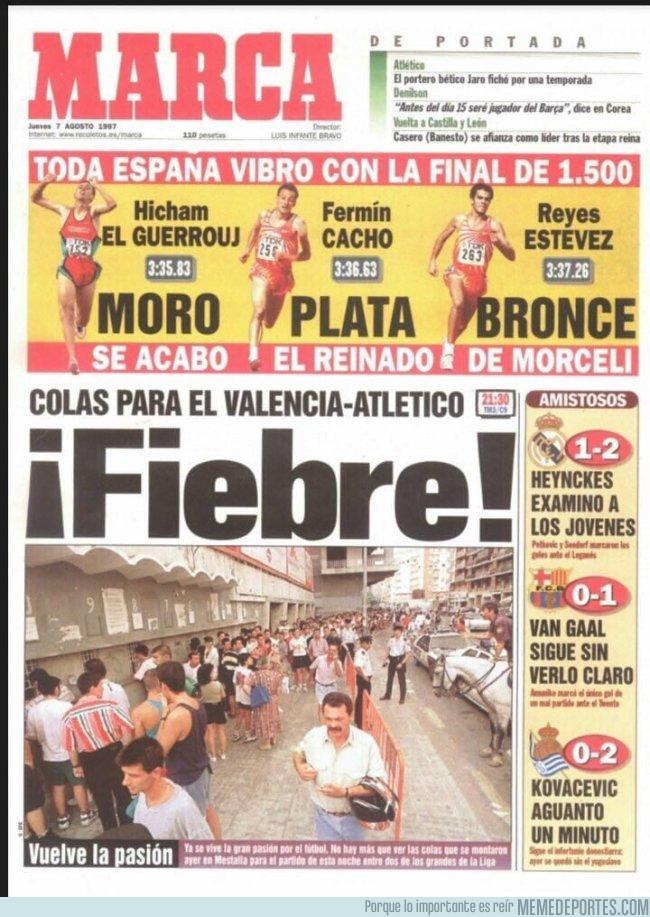 992007 - Se cumplen 20 años de esta portada histórica de MARCA, que hoy no podría ver la luz del día