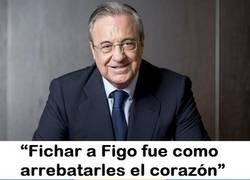 Enlace a Así se refirió Floren al quitarle a Figo al Barcelona