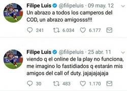 Enlace a El pasado gamer de Filipe Luis sale a la luz