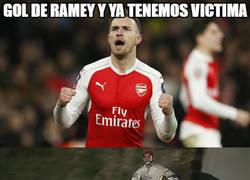 Enlace a La víctima tras el gol de Ramsey