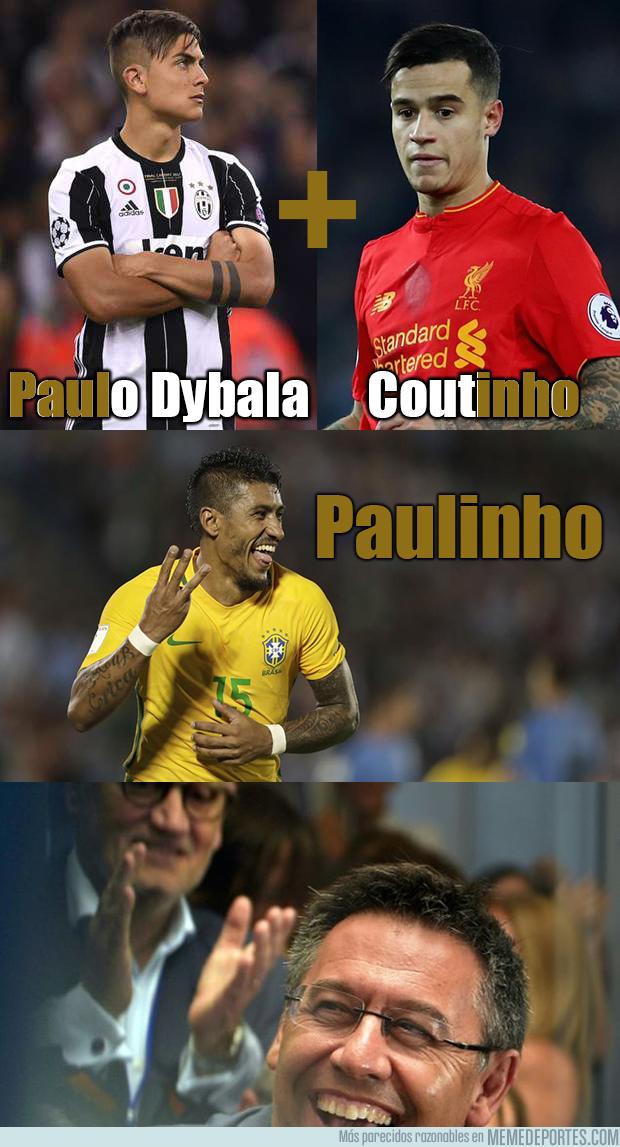 992514 - Como ve Bartomeu a Paulinho