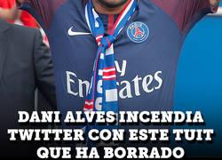 Enlace a Dani Alves borra este tuit tras las declaraciones de Piqué sobre el fichaje de Neymar al PSG