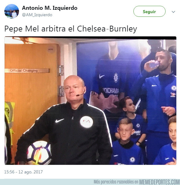 993055 - Pepe Mel arbitró el Chelsea-Burnley
