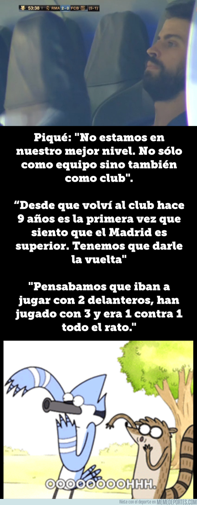 993892 - Rajada de Piqué tras la humillación en el Clásico