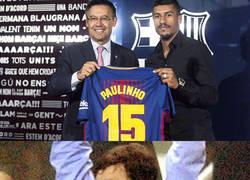 Enlace a Paulinho marcándose un Camacho en su presentación