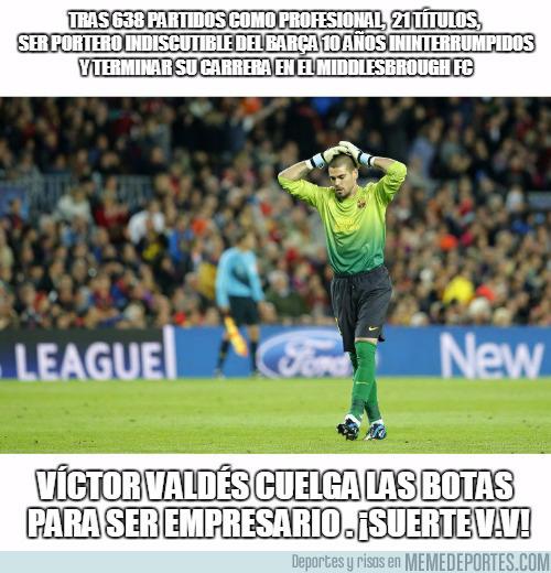 994107 - Víctor Valdés cuelga las botas