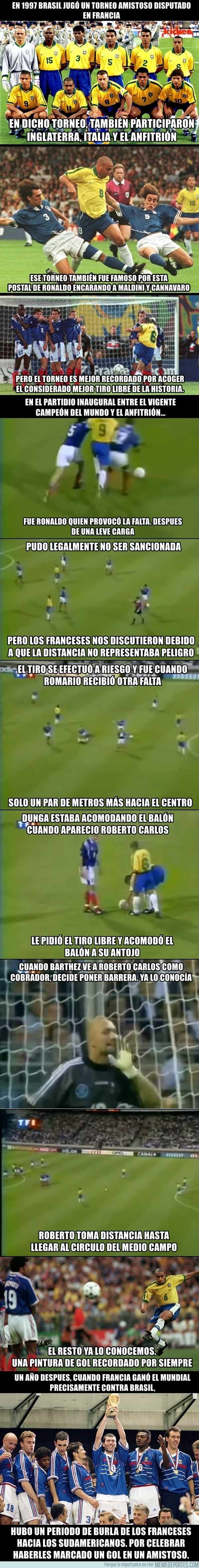 994167 - El background del gol de Roberto Carlos a Francia
