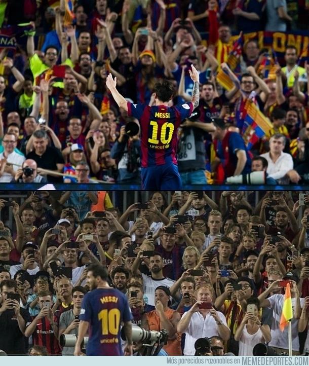 994176 - Hasta la afición del Barça ha cambiado