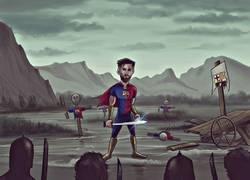 Enlace a Qué será del Barcelona con sólo Messi. Vía ZEZO CARTOONS