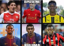 Enlace a El Barça en el mercado de fichajes...