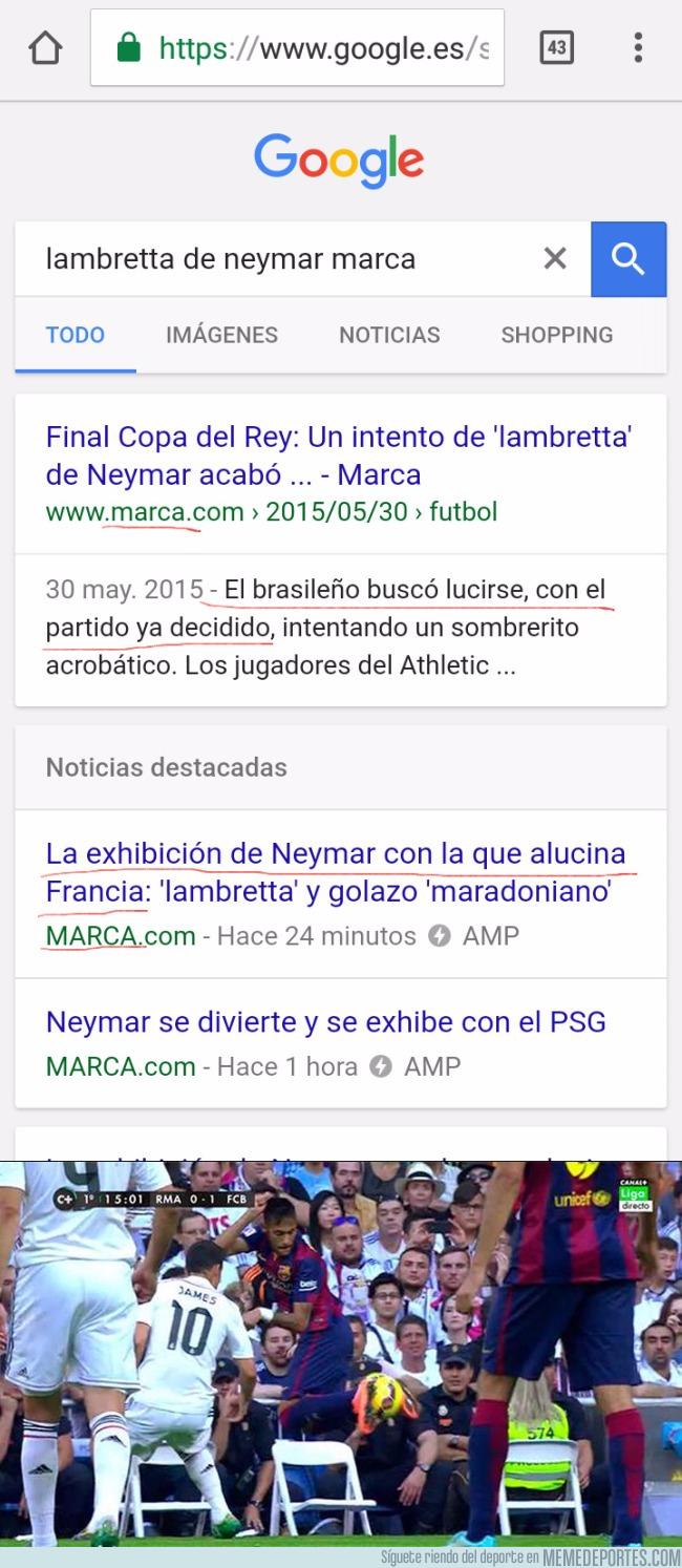 994735 - El doble rasero de Marca con Neymar queda retratado con estos dos titulares