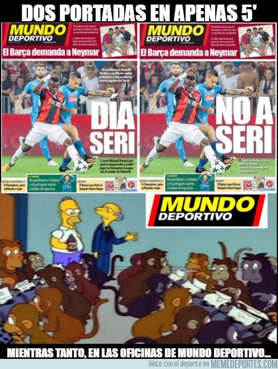 995086 - INSÓLITO Mundo Deportivo ha sacado 2 portadas en apenas 5 minutos