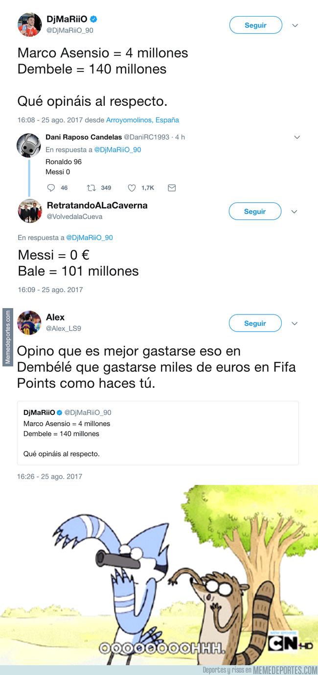 995648 - Los tremendos ZASCAS a Dj Mariio tras comparar el precio de Dembelé con este jugador