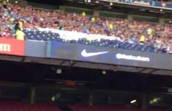 Enlace a Lío monumental en el Camp Nou con gritos contra Bartomeu en la presentación de Dembélé