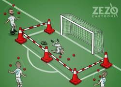 Enlace a Descripción gráfica de Benzema contra el Valencia. Vía ZEZO CARTOONS.