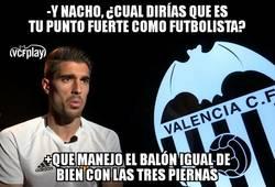 Enlace a Nacho Vidal, un jugador muy polifacético