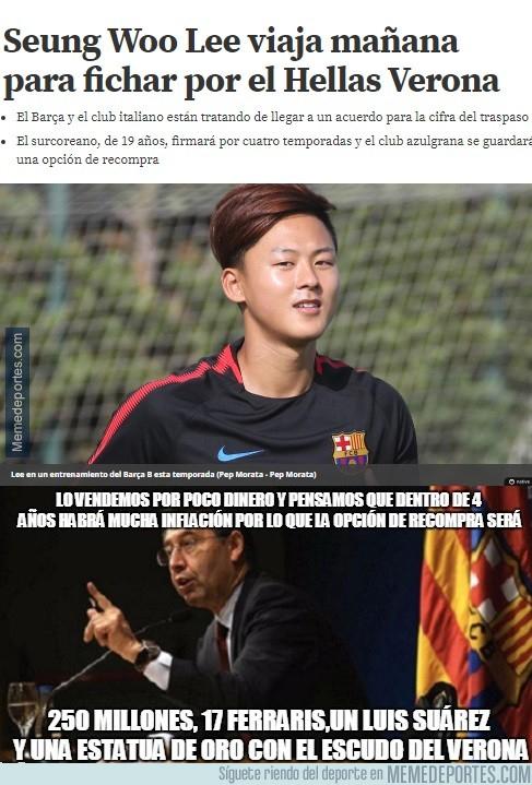 996514 - Una más de Bartolo, el Barça vende al prometedor delantero Seung Woo Lee