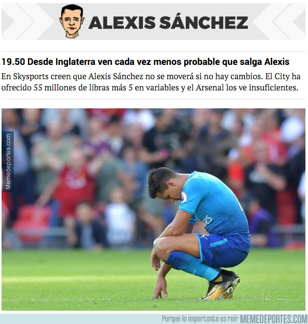 996702 - Alexis Sánchez ya no lo ve todo tan gracioso
