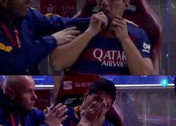 Enlace a Luis Suárez durante el partido