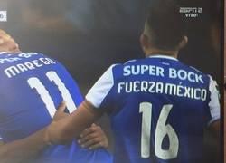 Enlace a La camiseta de Hector Herrera para el partido contra el Portimonense