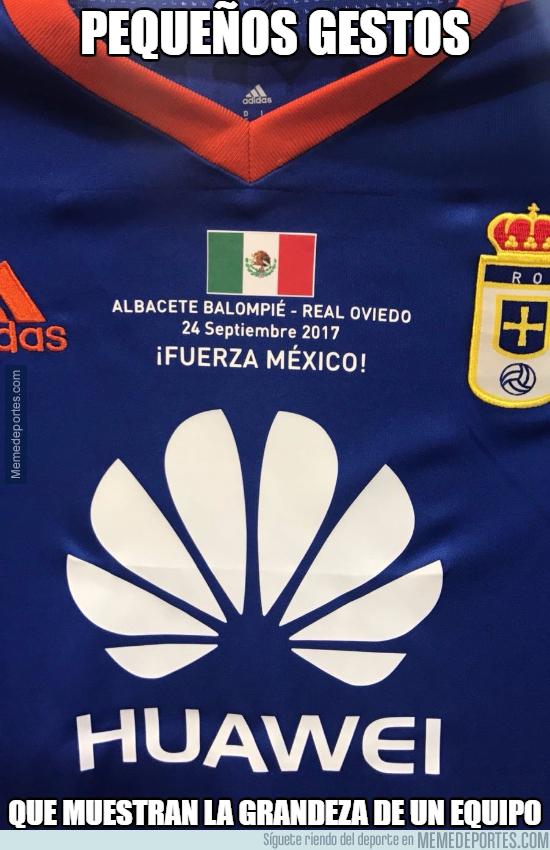 1000587 - Gran gesto del Real Oviedo con los afectados por el terremoto de México