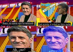 Enlace a Míchel tras ganar un punto en 6 partidos con el Málaga