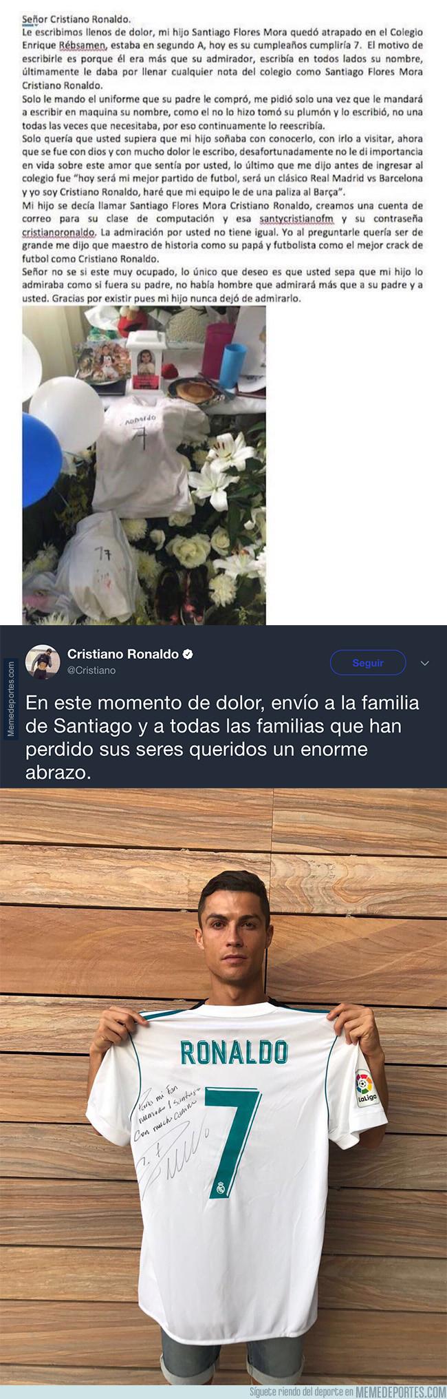 1000855 - Santiago murió en un edifició de México por el terremoto y Cristiano ha tenido este detallazo con su