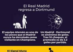 Enlace a Infografía: El Madrid regresa a Dortmund