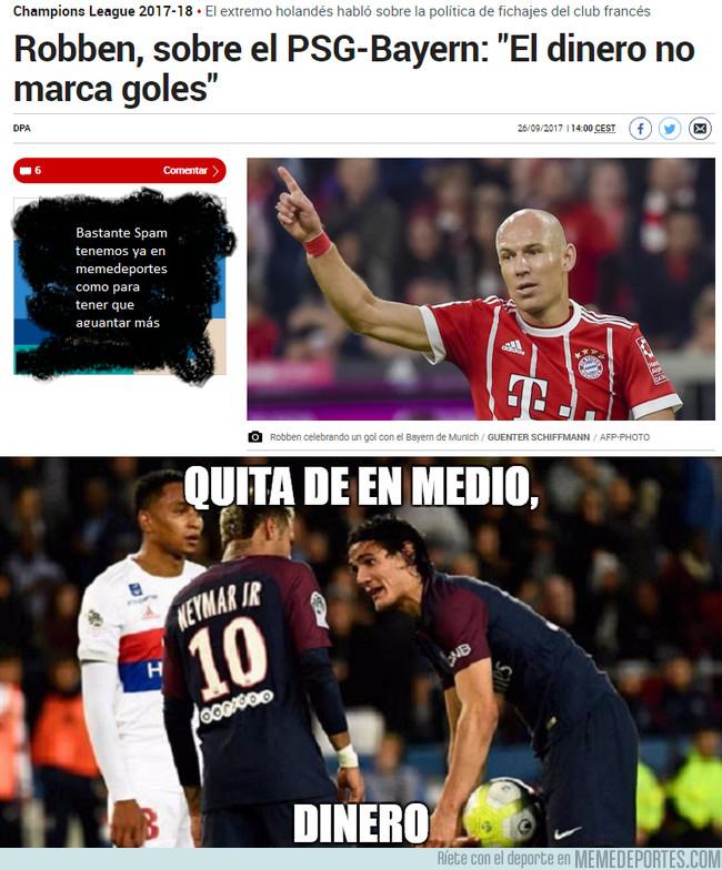 1001005 - Robben se burla de Neymar en la previa de su partido de Champions