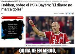 Enlace a Robben se burla de Neymar en la previa de su partido de Champions