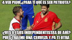 Enlace a Ramos y Piqué teniendo una charla sobre el significado de ser patriota