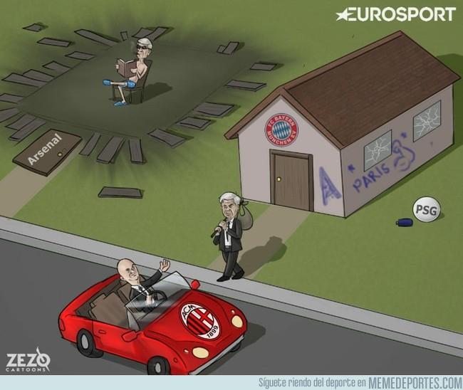 1001396 - La destitución de Ancelotti del Bayern Munich. Vía ZEZO CARTOONS