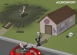 Enlace a La destitución de Ancelotti del Bayern Munich. Vía ZEZO CARTOONS