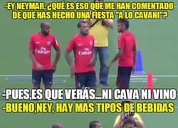 Enlace a Neymar nos cuenta cómo fue esa fiesta ''a lo Cavani''