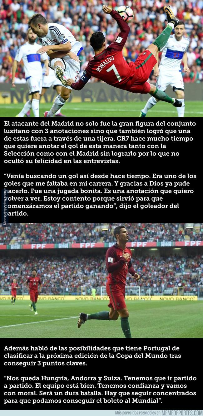 996891 - Las declaraciones de Ronaldo tras el primer gol de tijera de su carrera