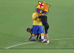 Enlace a Coutinho y Neymar divirtiéndose