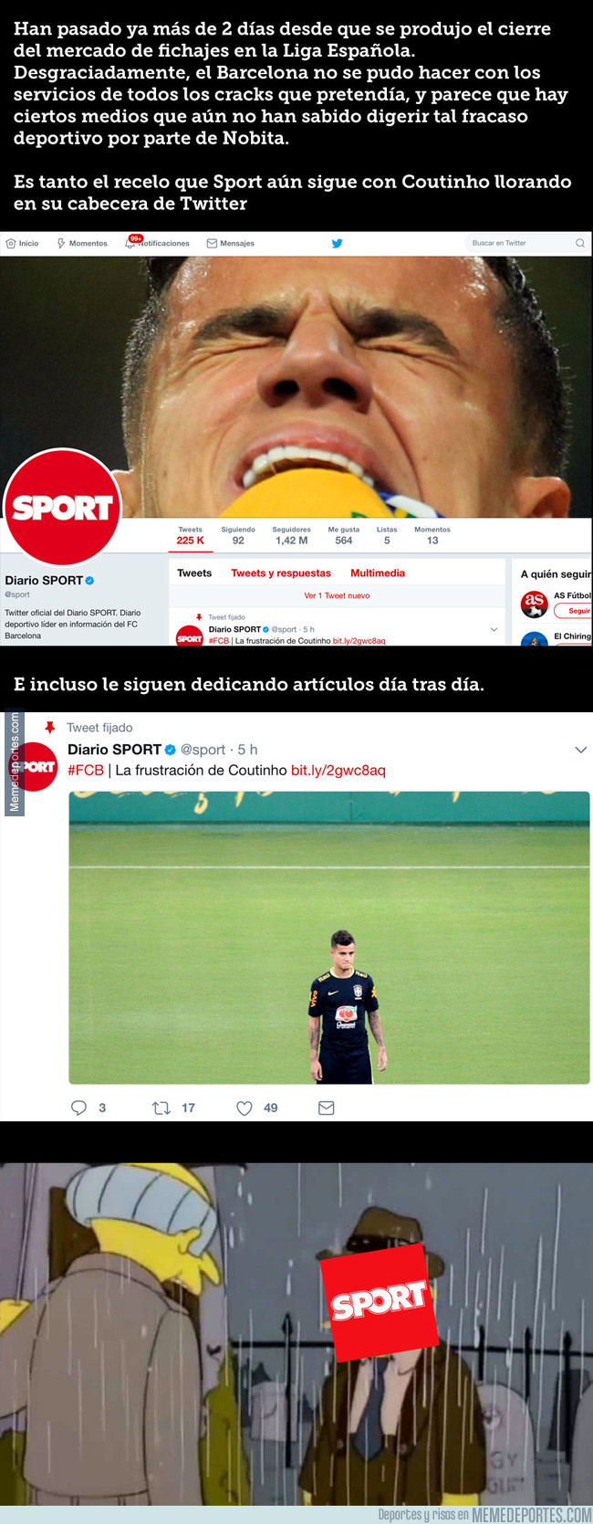 997455 - El hecho que demuestra que Sport aún no ha superado lo de Coutinho