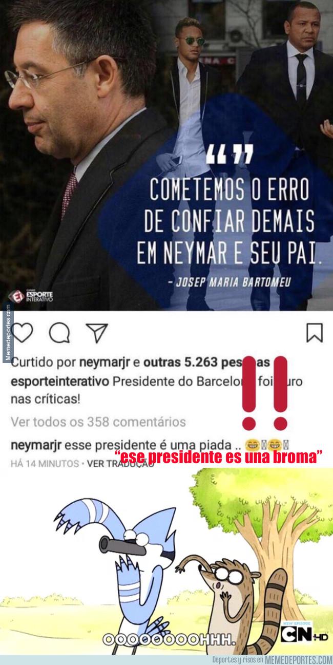 997664 - Rajada de Neymar contra Bartomeu en Instagram