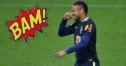 Enlace a Le hacen una dura entrada a Neymar y él se venga a la próxima jugada como mejor sabe