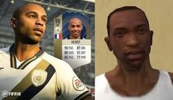 Enlace a Henry se da el lujo de aparecer en el FIFA 18 y en GTA