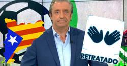 Enlace a Pedrerol tiene que tragarse sus palabras tras mezclar el fútbol con la independencia de Catalunya