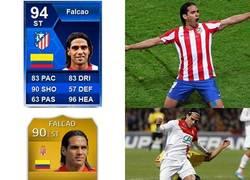 Enlace a Las cartas del FIFA de Falcao desde 2013 hasta 2018 representan su evolución de manera perfecta