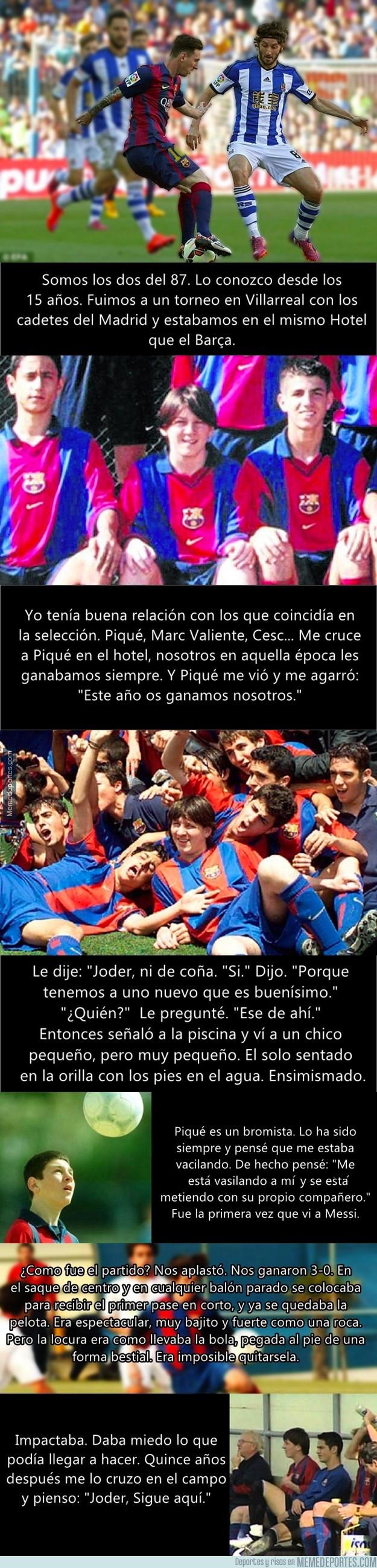 998070 - Esteban Granero cuenta la anécdota del día que conoció a Messi y cómo Piqué lo vaciló