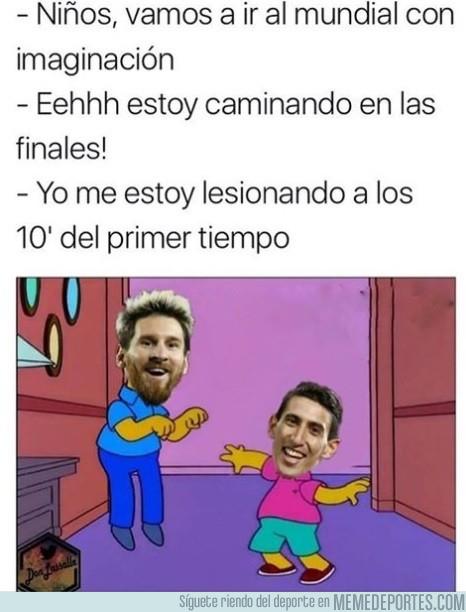 998125 - Messi y Di María ya se preparan para el mundial