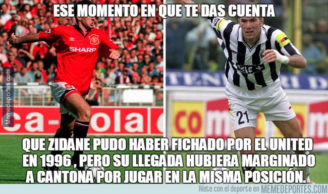998179 - El Manchester United no fichó a Zidane en 1996 para no molestar a Cantona