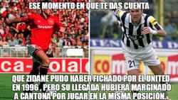 Enlace a El Manchester United no fichó a Zidane en 1996 para no molestar a Cantona