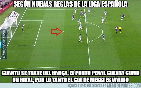 998384 - Según las nuevas reglas el gol de Messi es legal