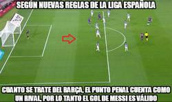 Enlace a Según las nuevas reglas el gol de Messi es legal